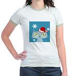 CHRISTMAS KITTY Jr. Ringer T-Shirt
