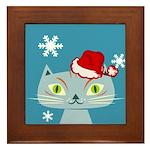 CHRISTMAS KITTY Framed Tile