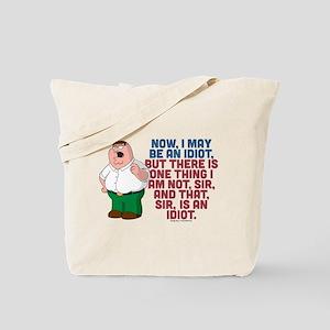 Family Guy Idiot Tote Bag