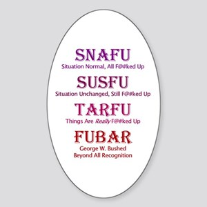 FUBAR Oval Sticker