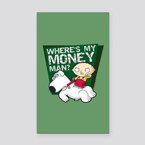 Family Guy My Money Rectangle Car Magnet