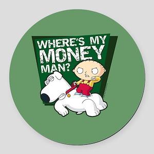 Family Guy My Money Round Car Magnet
