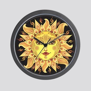 Stylish Sun Wall Clock