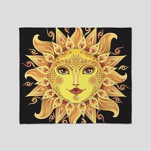 Stylish Sun Throw Blanket
