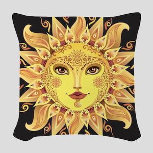 Stylish Sun Woven Throw Pillow