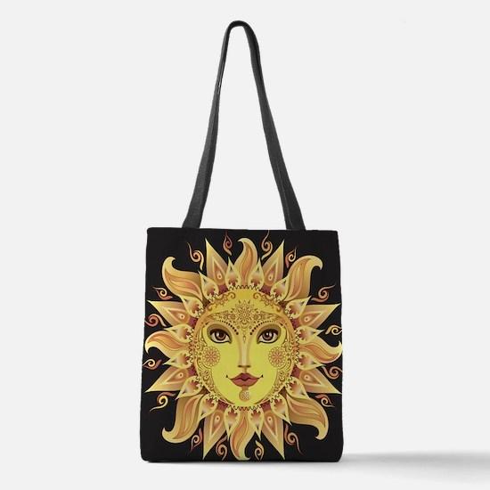 Stylish Sun Polyester Tote Bag