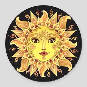 Stylish Sun Round Car Magnet