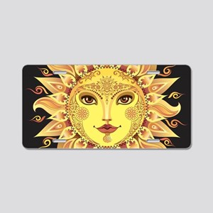 Stylish Sun Aluminum License Plate