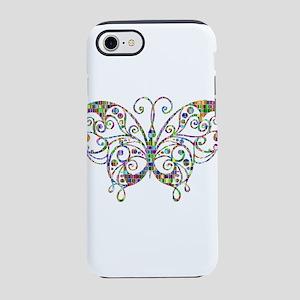 Prismatic Stencil Butterfly iPhone 8/7 Tough Case