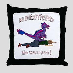 Bilociraptor Prey - Bisexual Support Throw Pillow