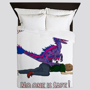 Bilociraptor Prey - Bisexual Support Queen Duvet