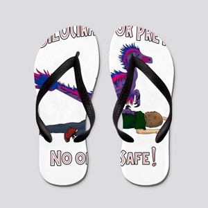 Bilociraptor Prey - Bisexual Support Flip Flops