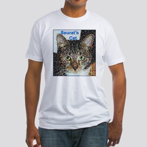 Seurat's Cat Fitted T-Shirt