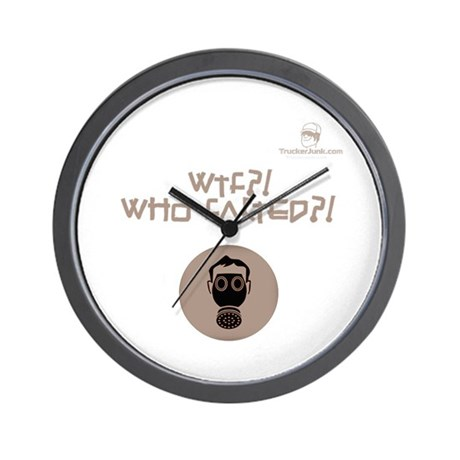 WTF?! Who FARTED?! Gas Mask Wall Clock
