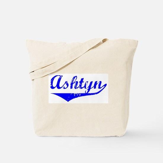 Ashtyn Vintage (Blue) Tote Bag