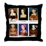 Henry viii wives Cotton Pillows