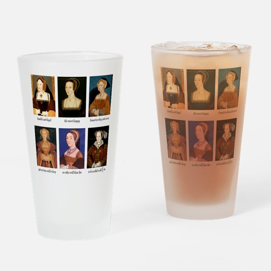 Cute Henry viii wives Drinking Glass