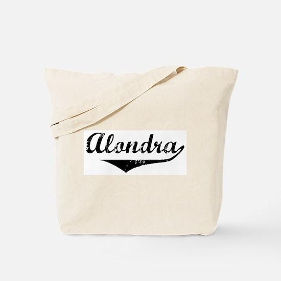 Alondra Vintage (Black) Tote Bag