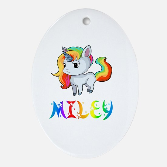 Unique Miley Oval Ornament