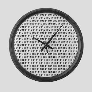 Binary Code 101 Large Wall Clock