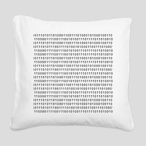 Binary Code 101 Square Canvas Pillow