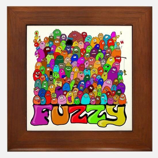 Fuzzy bunch Framed Tile