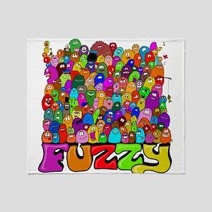 Fuzzy bunch Throw Blanket