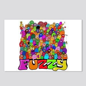 Fuzzy bunch Postcards (Package of 8)