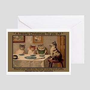 1881 Hearty Christmas Greeting Card