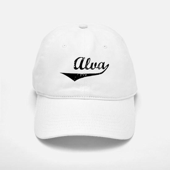 Alva Vintage (Black) Baseball Baseball Cap