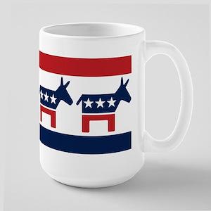 Donkeys - Democratic Party Large Mug