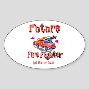 Future firefighter Oval Sticker