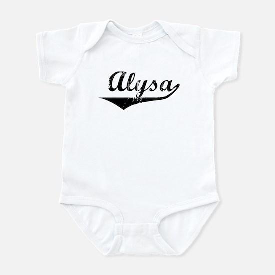 Alysa Vintage (Black) Infant Bodysuit