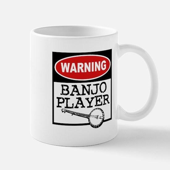 Warning Banjo Player Mug
