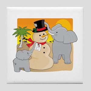 Sahara Christmas Tile Coaster