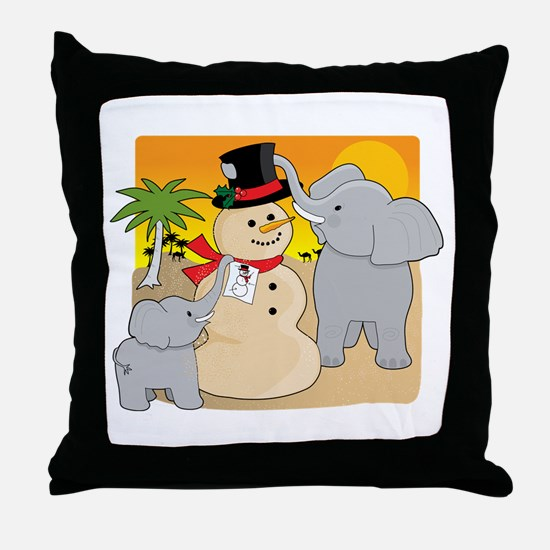 Sahara Christmas Throw Pillow