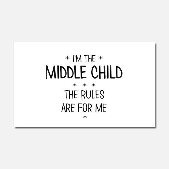 MIDDLE CHILD 3 Car Magnet 20 x 12
