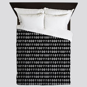 Binary Code 010 DOS Queen Duvet