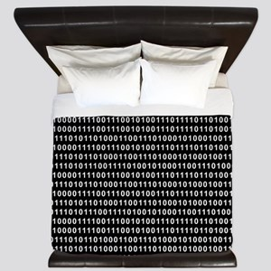 Binary Code 010 DOS King Duvet
