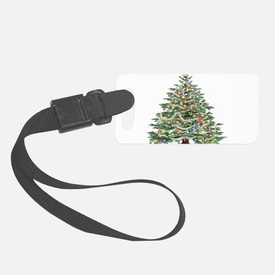 Christmas Tree Luggage Tag