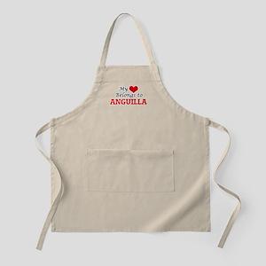 My Heart Belongs to Anguilla Apron