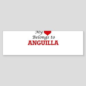 My Heart Belongs to Anguilla Bumper Sticker