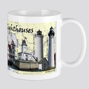 Great Lakes Lighthouses Mugs