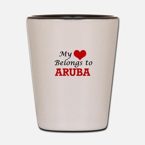 My Heart Belongs to Aruba Shot Glass