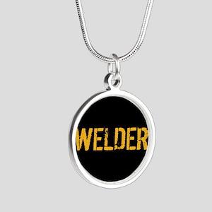 Welding: Stencil Welder (Bla Silver Round Necklace
