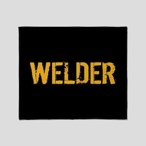 Welding: Stencil Welder (Black & Gol Throw Blanket