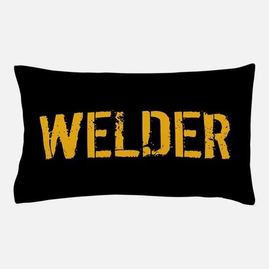 Welding: Stencil Welder (Black & Gold) Pillow Case