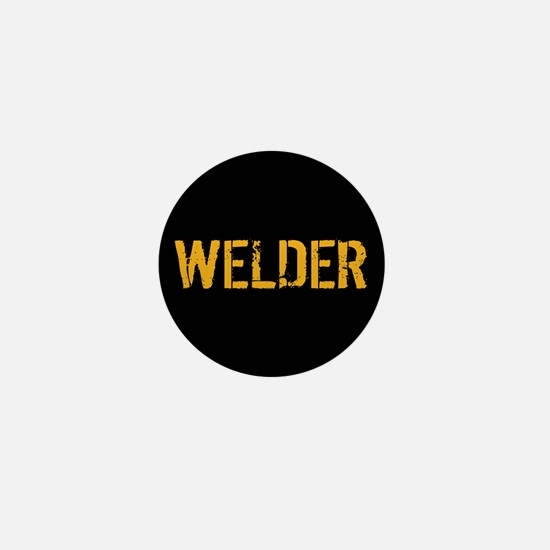 Welding: Stencil Welder (Black & Gold) Mini Button