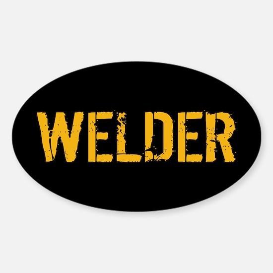 Welding: Stencil Welder (Black & Go Sticker (Oval)