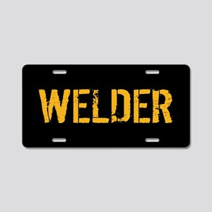 Welding: Stencil Welder (Bl Aluminum License Plate